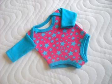 Puppenkleidung Puppen Body Unterwäsche Sterne ca. 36-38 cm    - Handarbeit kaufen