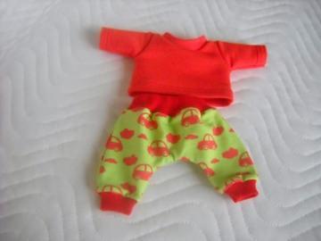 2 tlg. Puppenkleider Set Hose & Shirt mit Auto Motiv ca. 26-27 cm    - Handarbeit kaufen