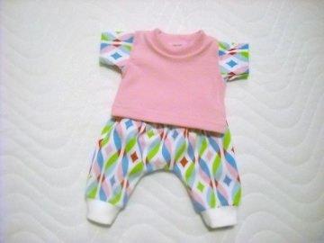 2 tlg. Puppenkleider Set Hose & Shirt Baumwolljersey  ca. 26-27 cm   - Handarbeit kaufen
