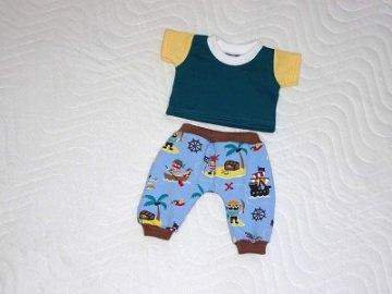2 tlg. Puppenkleider Set Hose & Shirt für Jungs ca.36-38 cm