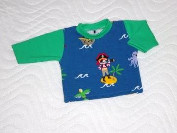 Puppenkleidung Baumwolljersey t-Shirt Piraten für Jungs ca. 46-48 cm - Handarbeit kaufen