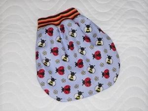Puppenkleidung Schlafsack, Pucksack, Strampelsack Handgemacht ca. 24-29 cm  - Handarbeit kaufen