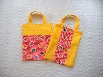 Handgemachte Kindertasche Wendetasche Stofftasche mit Eulen Motiv