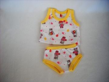 Handgemachtes Unterwäsche Set Hemd & Slip 32-33 cm