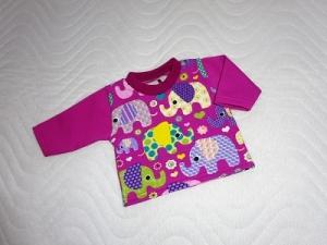 Handgemachtes Baumwolljersey Shirt für Puppen Elefanten ca.36-38 cm  - Handarbeit kaufen