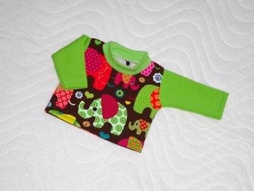 Handgemachtes Baumwolljersey Shirt für Puppen, Elefanten ca.36-38 cm - Handarbeit kaufen