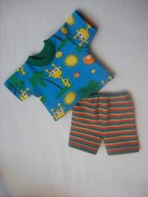 Handgemachtes Puppenkleider Set Shirt & Hose, Radlerhose ca. 43 cm
