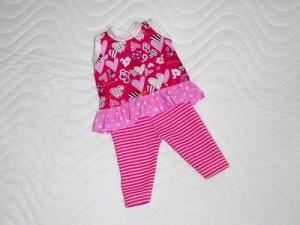 Handgemachte Puppenkleidung Sommerkleid & Leggins ca. 32-33 cm - Handarbeit kaufen