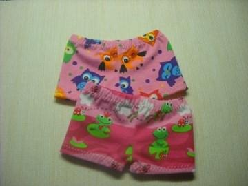 2 Handgemachte Slip, Unterhose, Panty für Puppen, Eulen, Froschkönig gr. 26-28 cm   - Handarbeit kaufen