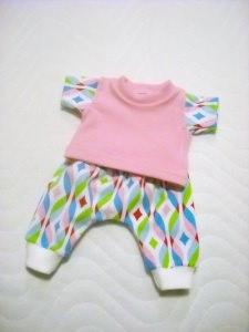 Handgemachte Puppenkleider Set Pumphose & Shirt Weichkörper Puppen  ca. 46-48 cm  - Handarbeit kaufen