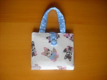 Handgemachte Mini Buchtasche, Mini Buchhülle, Büchertasche mit Fuchs Motiv. - Handarbeit kaufen