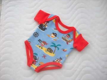 Handgemachter Body Unterwäsche für Puppen Jungs Piraten ca. 43 cm - Handarbeit kaufen