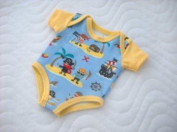 Handgemachter Body Unterwäsche für Puppen Jungs Piraten Motiv ca. 43 cm - Handarbeit kaufen