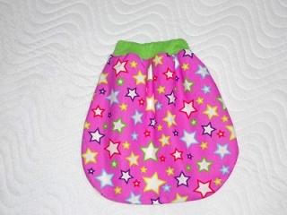 Handgemachter  Schlafsack, Strampelsack für Puppen ca. 30-39 cm   - Handarbeit kaufen