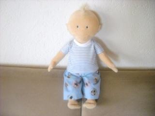 Handgemachte Pumphose & Shirt für Puppen Jungs ca. 43cm