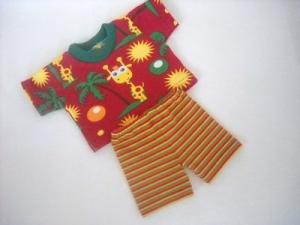 Handgemachtes Set Radlerhose und Shirt für Puppen ca. 46-48 cm - Handarbeit kaufen