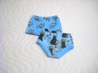 Handgemachte Unterwäsche für Puppen 2 Slip, Unterhosen, Panty für Jungs ca. 43 cm