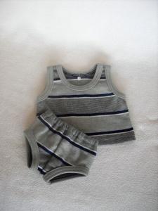 Handgemachte Unterwäsche Hemd & Slip für Puppen Jungs ca. 36-38 cm   - Handarbeit kaufen