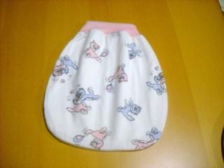 Handgemachter Schlafsack Strampelsack für Puppen ca. 40-49 cm