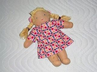 Handgemachtes Baumwolljersey Sommerkleid für Puppen ca. 26-27cm    - Handarbeit kaufen
