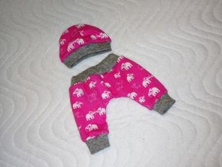 Handgemachte Pumphose & Mütze für Puppen ca.36-38 cm