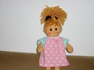 Handgemachtes Baumwolljersey Sommerkleid für Puppen ca. 36-38cm