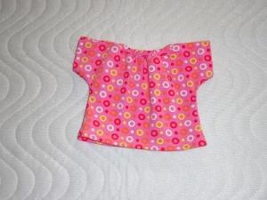 Handgemachtes Baumwolljersey Sommerkleid für Puppen ca. 36-38cm - Handarbeit kaufen