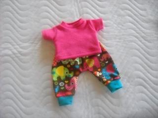 Puppenkleider Set Puppen Pumphose & Shirt ca. 43cm