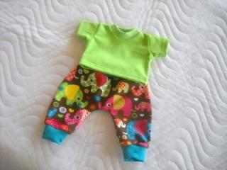 KaPuMo Puppenkleider Set Puppen Pumphose & Shirt ca. 43cm