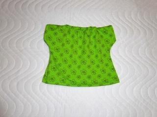 Handgemachtes Baumwolljersey Sommerkleid für Puppen ca. 26-27cm