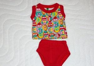 Puppenkleidung Unterwäsche Hemd und Slip gr. 26-27 cm  - Handarbeit kaufen