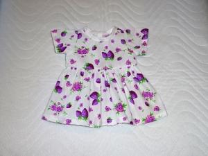 Puppenkleid Sommerkleid, Baumwolle, Erdbeere ca. 43 cm - Handarbeit kaufen
