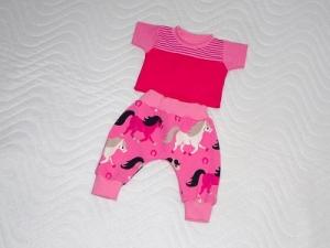 Handgemachtes Set Pumphose & Shirt für Puppen mit Elefanten Motiv ca. 46-48 cm