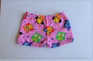 Handgemachte Unterwäsche für Puppen Slip, Unterhosen, Panty Eulen ca. 43 cm - Handarbeit kaufen