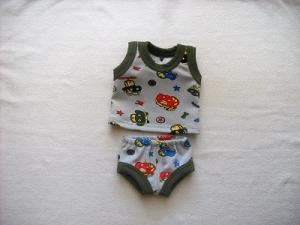 Handgemachte Unterwäsche Set Hemd & Hose Jungs ca. 43 cm