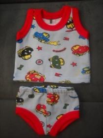 Handgemachte Unterwäsche Set Hemd & Hose Jungs ca. 43 cm   - Handarbeit kaufen