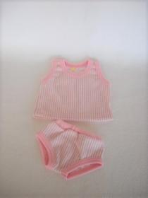 Handgemachte Puppenkleidung Unterwäsche Hemd & Slip Unterhose ca. 43 cm