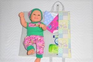 Handgemachte Puppen Windeltasche, Wickeltasche, Wickelunterlage  - Handarbeit kaufen