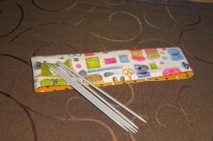 Nadelspieltasche Stricknadelspieltasche Projekttasche für 15-20 cm Stricknadelspiel  - Handarbeit kaufen