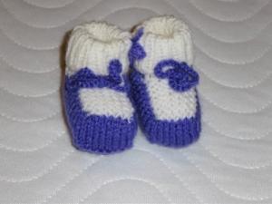 Puppenschuhe Schühchen Stiefelchen für Puppen 5,5-6 cm Handgestrickt  - Handarbeit kaufen
