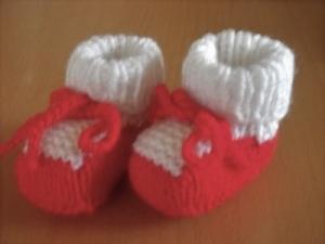 Puppenschuhe Schühchen Stiefelchen für Puppen ca. 5,5-6 cm Handgestrickt   - Handarbeit kaufen