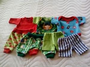 Puppenkleider Set Shirt, Hose, Body für Jungs ca. 32-33 cm   - Handarbeit kaufen