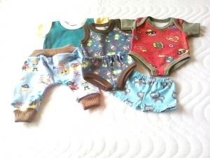 6 tlg. Puppenkleider Set Body, Hose, Shirt, Unterwäsche Garnitur für Jungs ca. 43 cm   - Handarbeit kaufen
