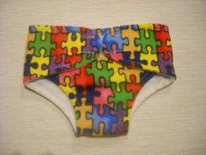 Handgemachte Stoffwindel Windel für Puppen Unterwäsche gr. 32-33 cm  - Handarbeit kaufen
