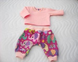 Puppenkleider Set Puppen Pumphose & Shirt Elefanten Motiv ca. 43cm - Handarbeit kaufen