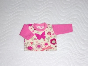 Puppenkleidung Baumwolljersey Shirt, handgemacht  ca. 43 cm   - Handarbeit kaufen