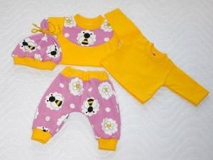 4 tlg. Puppenkleider Set Puppen Pumphose, Mütze & 2 Shirt ca.36-38 cm  - Handarbeit kaufen