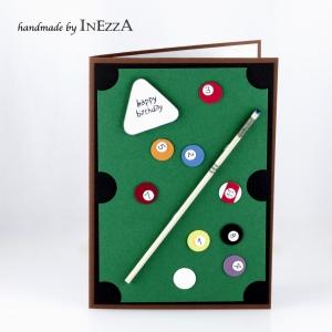 Billard Grußkarte zum Geburtstag für Herren Snooker