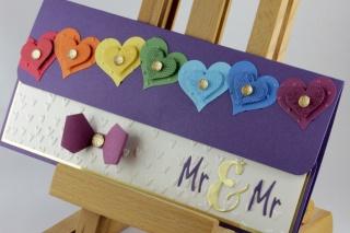 Geschenkverpackung für Konzertkarte zur Hochzeit ♥ Mr. & Mr. ♥ Homo-Ehe