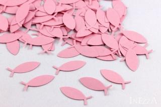 100 Stanzteile Fische rosa 10 x 25 mm für Geburt und Taufe - Handarbeit kaufen
